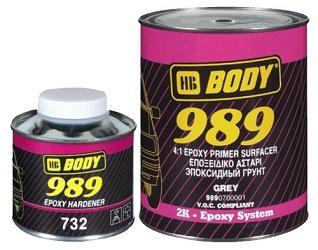 HB BODY 989 2К Эпоксидный грунт 4:1, комплект